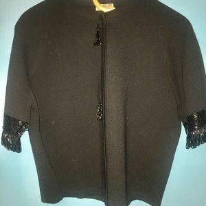 Vintage Wool Beaded Jacket